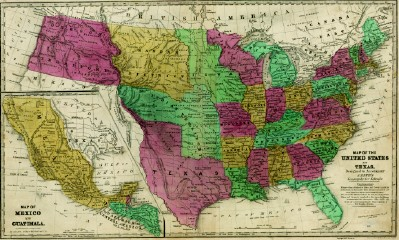 Texas Historical Map - United States & the Republic of Texas 1839