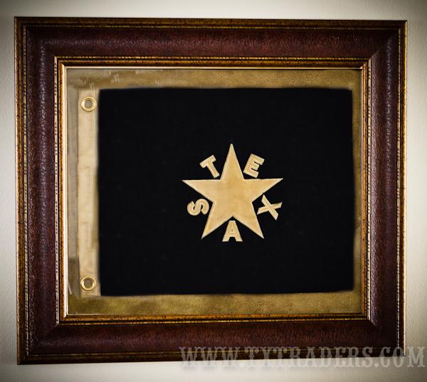 Framed Texas Battle Flag - First Republic Flag-deZavala Flag