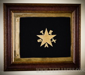 Framed Texas Battle Flag - First Republic Flag-deZavala Flag