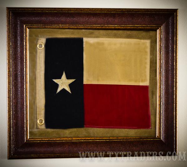 Framed Texas Battle Flag Texas Flag Third Republic Of