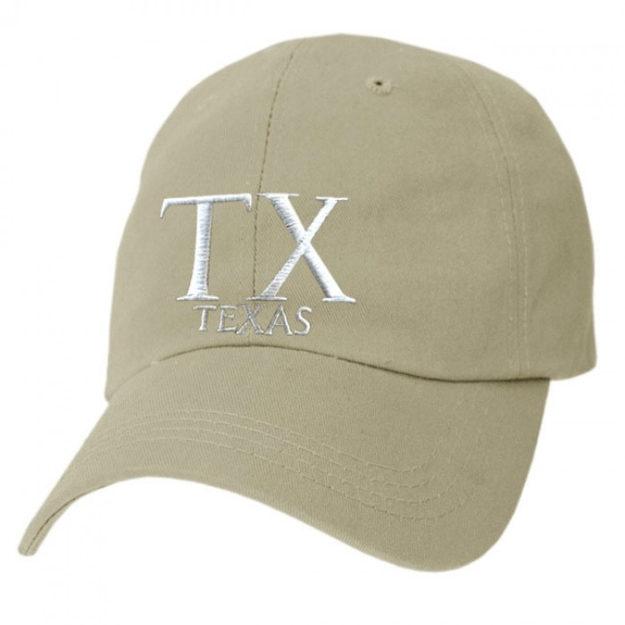 Texas Cap embroidered with TX and TEXAS