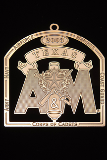 "2003 Texas A&M Collector's Ornament -""Guardians of Tradition"""