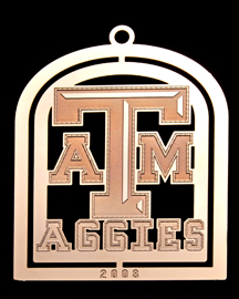 2008 Texas A&M Collector's Ornament Aggies