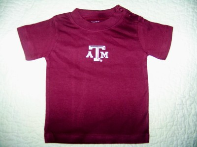 Baby Texas Aggie T-Shirt with Embroidered ATM logo