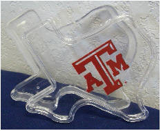 Texas A&M Clear Texas Shaped Gift Box