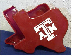 Texas A&M Maroon Texas Shaped Gift Box
