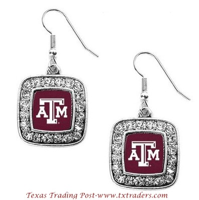 A&M - Blingy Earrings with Texas A&M Logo