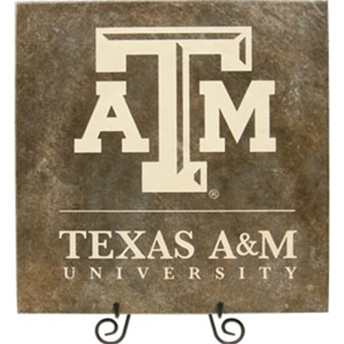 Tile Stone Art - Texas A&M University with ATM Logo