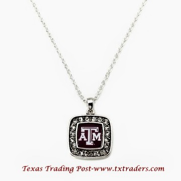 A&M - Blingy Necklace with Texas A&M Logo