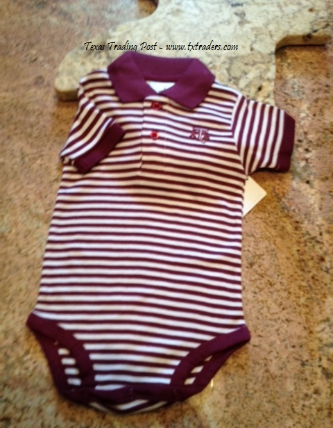 Baby Texas Polo Shirt Aggie One-Piece Set