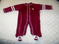 Baby Texas Aggie Romper & shoes with ATM Embroidered Logo
