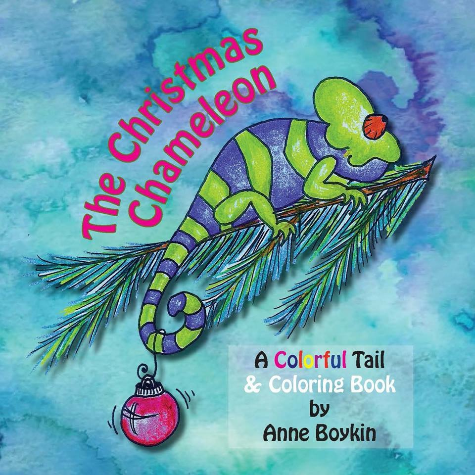 The Christmas Chameleon - A Colorful Tail & Coloring Book