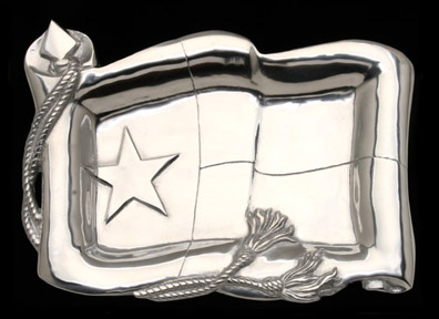 Hand Crafted Texas Flag Catch All Tray by Arthur Court