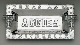 Hand Crafted Texas A&M Tray by Arthur Court