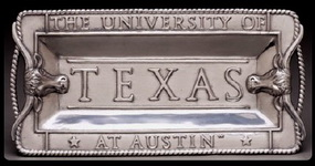 Hand Crafted University of Texas Tray by Arthur Court