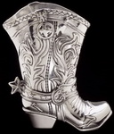 Hand Crafted Texas Cowboy texBoot Pitcher by Arthur Court