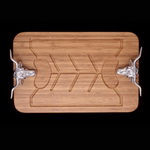 Hand Crafted Longhorn Carving Board -Arthur Court