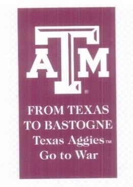 "Commemorative Texas A&M Magnet ""From Texas to Bastogne"""