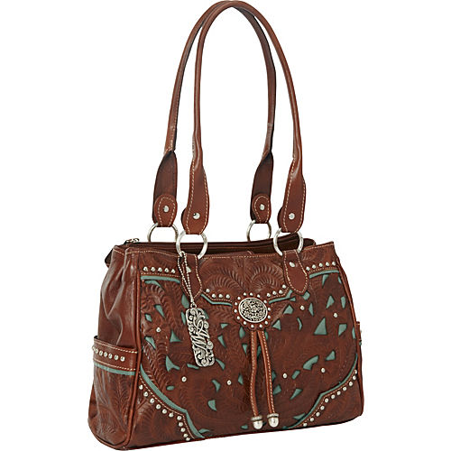 American West Leather Ladies Handbag - Lady Lace Collection
