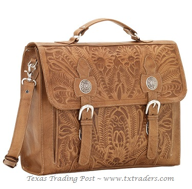 American West Leather Briefcase - Stagecoach Collection
