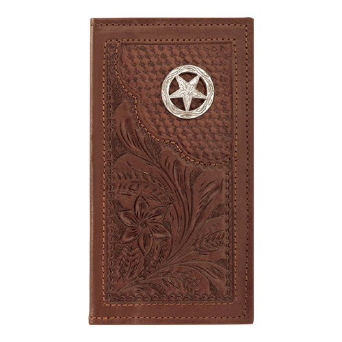 American West Leather Men's Rodeo Wallet