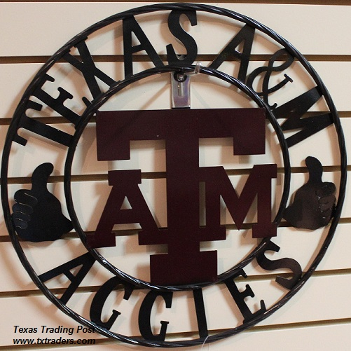 "18"" Texas Aggies Gig 'em A&M Metal Art"