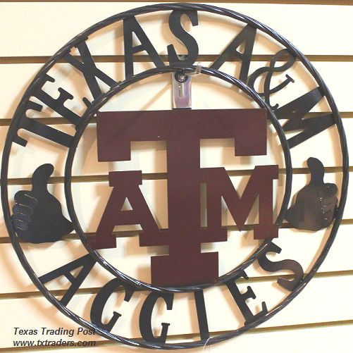 Aggies Gig 'em Texas A&M Metal Art