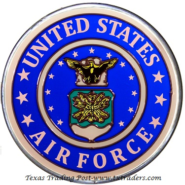 United States Air Force - Hand Painted Glass Art