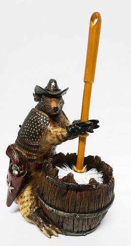 Armadillo Toilet Brush Holder for your Texas Bathroom