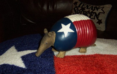 Texas Flag Armadillo Piggy Bank