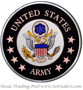 United States Army - Hand Painted Glass Art