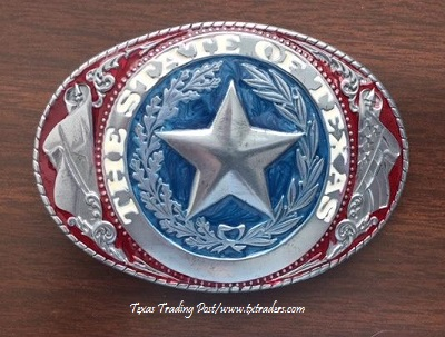 Buckle - Texas State Seal Buckle - Pewter
