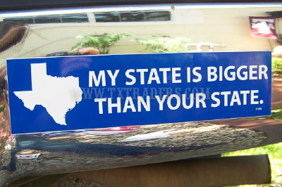 My State is Bigger Than Your State - Texas Bumper Sticker