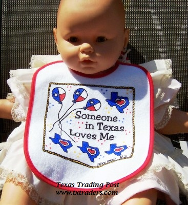 Baby Bib-Someone in Texas Loves Me