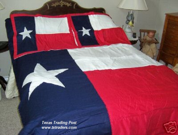 A Texas Flag Comforter/Bedding -Twin