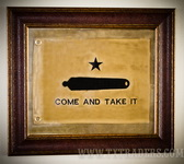 Framed Texas Battle Flag - Battle at Gonzales Come and Take It