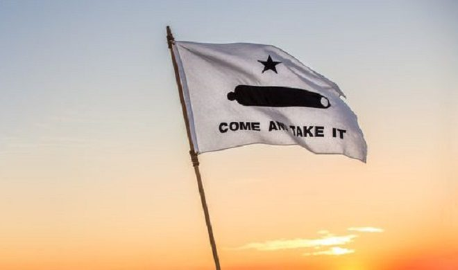 Battle Flag of Texas - Come and Take It - Gonzales - Cotton