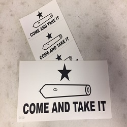 Come and Take It Bumper Sticker + 3 Small Stickers