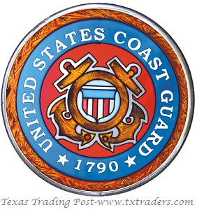 United States Coast Guard Emblem - Hand Painted Glass Art