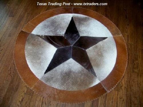 48 Texas Cowhide Rug Lone Star