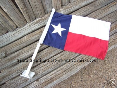 Texas Parade Flag for (Window of) Cars and Trucks - Window Texas Flag