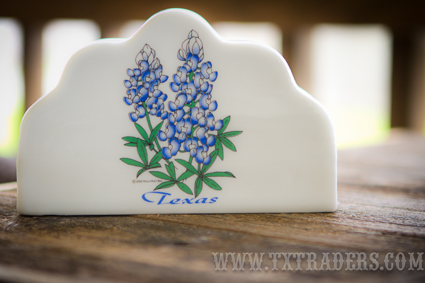 Bluebonnet Ceramic Napkin Holder