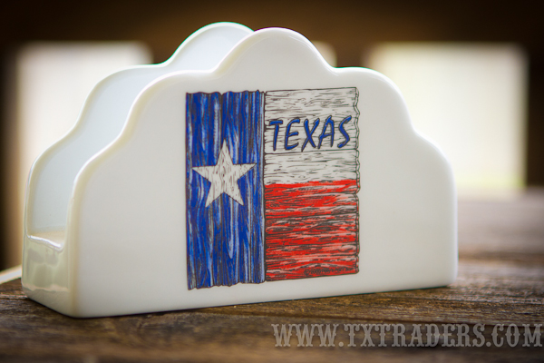 Texas Flag Ceramic Napkin Holder