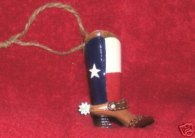 Texas Flag Boot Ornament