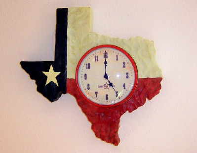 Texas Shaped Wall Clock