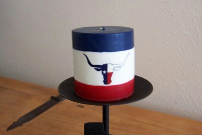Texas Pillar Candle-Longhorn