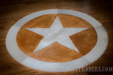 "36"" Texas Cowhide Rug - Texas Lone Star"