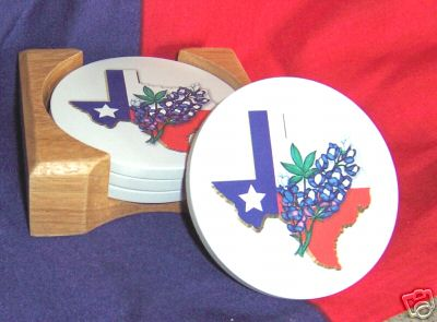 Aquastone Coasters-Texas and Bluebonnets