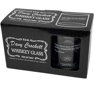 Davy Crockett Whiskey Glass with Quote (2)