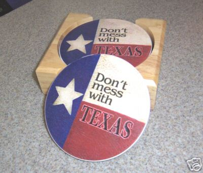 Aquastone Coasters - Don't Mess with Texas!